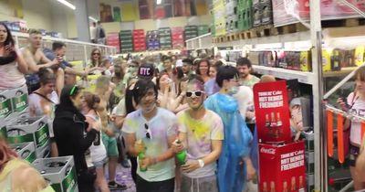 Party-Mob geht in den Supermarkt - 50.000 Euro Schaden