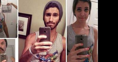 Eltern kopieren die Selfies ihrer Kinder