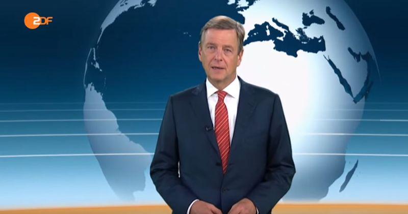 Nachrichtensprecher bricht mitten in der sendung in tr nen aus for Nachrichtensprecher zdf
