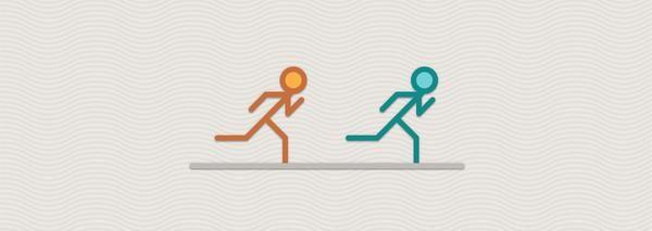 Welcher Läufer ist zuerst am Ziel?