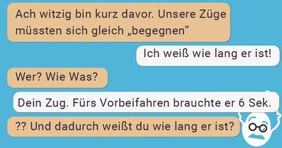 WhatsApp-Gespräch von zwei Reisenden