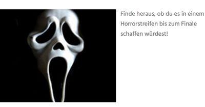 Würdest du in einem Horrorfilm überleben?