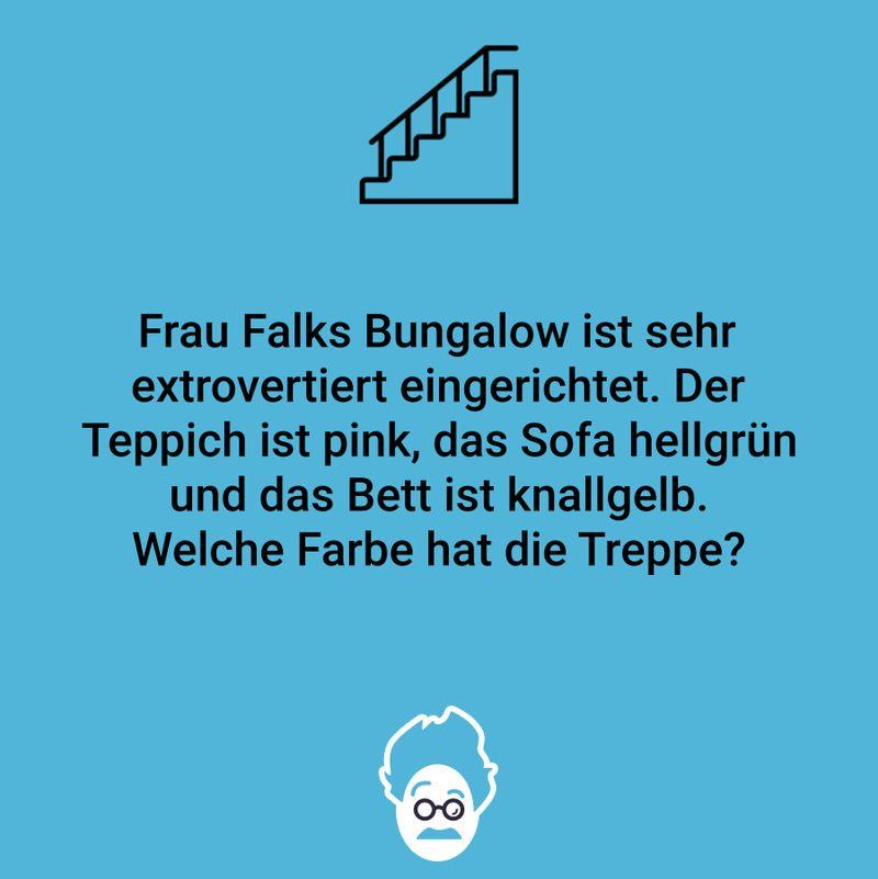 Welche Farbe hat die Treppe?