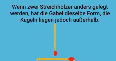Die Streichholz-Gabel