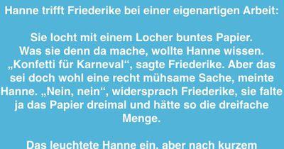 Friederike's eigenartige Arbeit