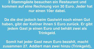 Wo ist der fehlende Euro?