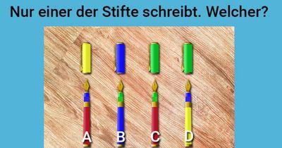 Welcher Stift schreibt?