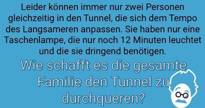 Den Tunnel durchqueren