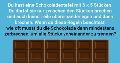 Schokoladenteilung