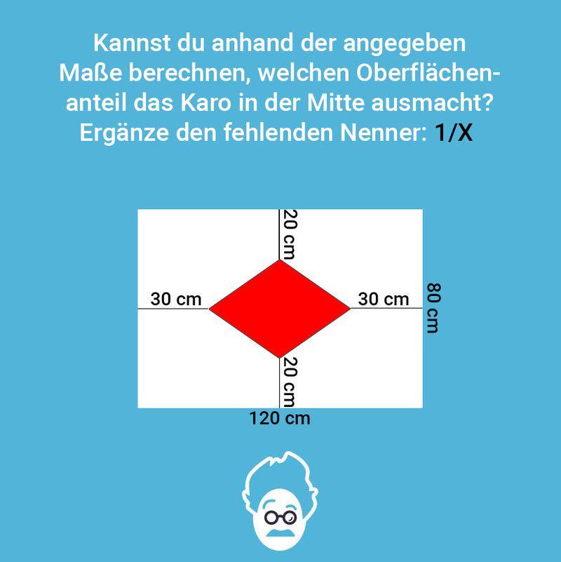 Wie groß ist das Karo?