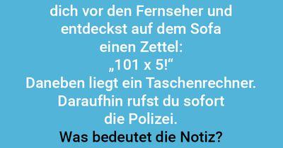 101 x 5 = Polizei