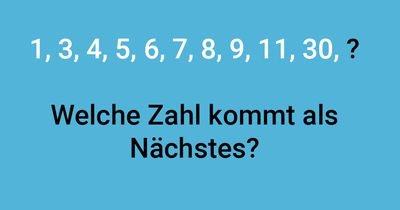 Welche Zahl folgt?