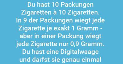 Zigarettenwiegen