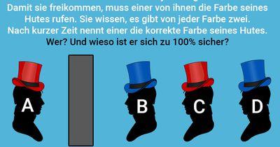 Rote Hüte, blaue Hüte