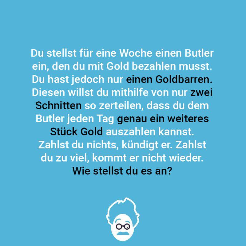 Goldgieriger Butler