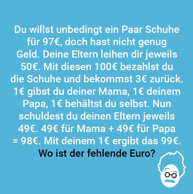 Ein Euro fehlt!
