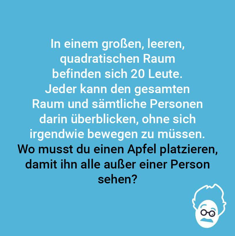Wohin mit dem Apfel?